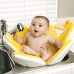 Blooming Bath Baby bath chair summer infant yellow and blue