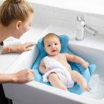 The Skip Hop Moby Softspot Sink Infant Bather Baby bath chair summer infant yellow and blue