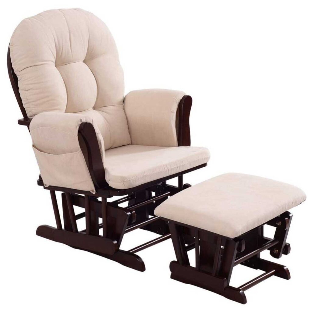 Best Breastfeeding Chairs Build Perfect Bonds Between Moms and Babies SeCoBuy COSTZON Baby Glider and Ottoman Cushion Set