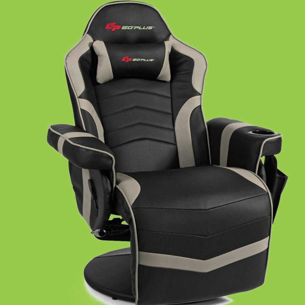 2 Best gaming chair with cup holders Video gaming chair SeCoBuy Goplus Massage Gaming Chair