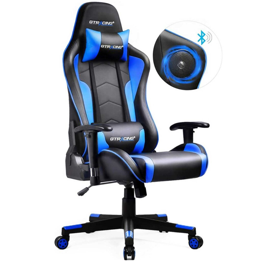 Best Gaming Chair For Short Person - But remember you must keep these features in mind SeCoBuy GTRACING Gaming Chair with Bluetooth Speakers