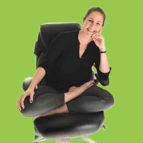 Sitting Indian Style in Office Chair